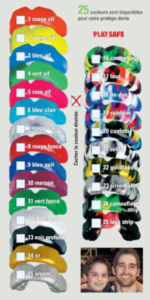 Liste couleurs